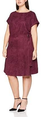 Studio Untold Women's Suede-Kleid Knee-Length A-Line Short Sleeve Dress,UK XL