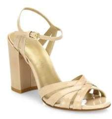 Stuart Weitzman Memoir Aniline Leather Ankle Strap Sandals