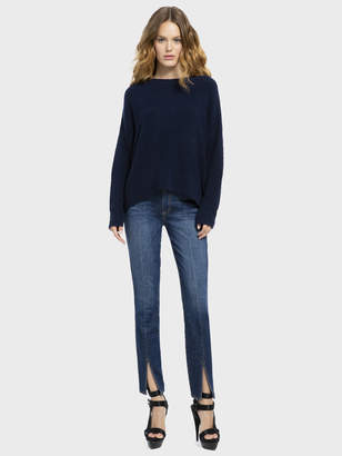 Alice + Olivia Good High Rise With Front Slit Jean