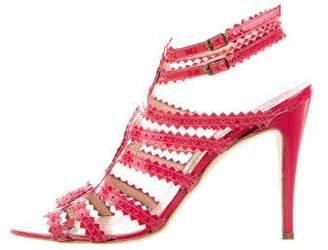 Manolo Blahnik Perforated Cage Sandals