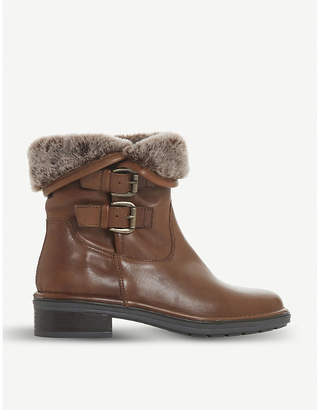 Dune Rita faux-fur leather boots