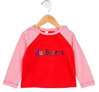 Burberry Girls' Raglan Logo Top
