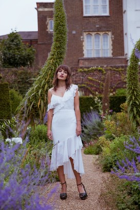 Girls On Film Hope and Ivy White Midi Dress