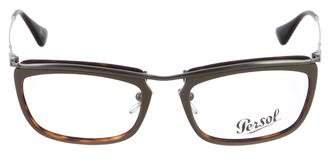 Persol Metal Square Eyeglasses