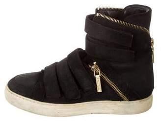 Pierre Balmain Suede High-Top Sneakers