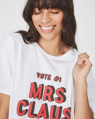 227c5b010e Cotton On Mrs Claus Christmas T-Shirt Nightie