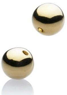 Gold stud earrings 8mm