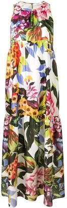 Blugirl floral panelled maxi dress