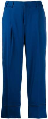 Pt01 drop-crotch slouchy trousers