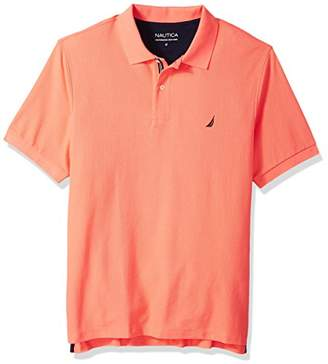 Nautica Men's Big and Tall Classic Short Sleeve Solid Polo Shirt
