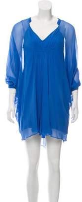 Diane von Furstenberg Fleurette Silk Mini Dress
