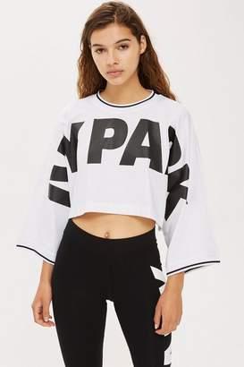Ivy Park Cropped Oversized Logo T-Shirt