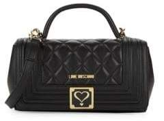 Love Moschino Quilted Top Handle Bag