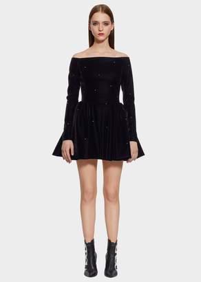 Versace Velvet Crinoline Mini-Dress