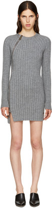 Dsquared2 Grey Wool Zip Sweater Dress $995 thestylecure.com