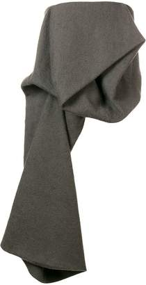 Rick Owens asymmetric strapless top