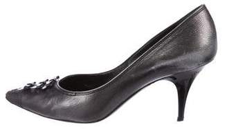 Louis Vuitton Leather Pointed-Toe Pumps