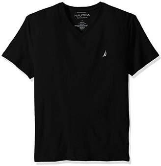 Nautica Men's Short Sleeve Solid Slim Fit V-Neck T-Shirt