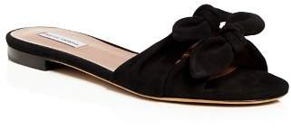 Tabitha Simmons Cleo Knotted Suede Slide Sandals