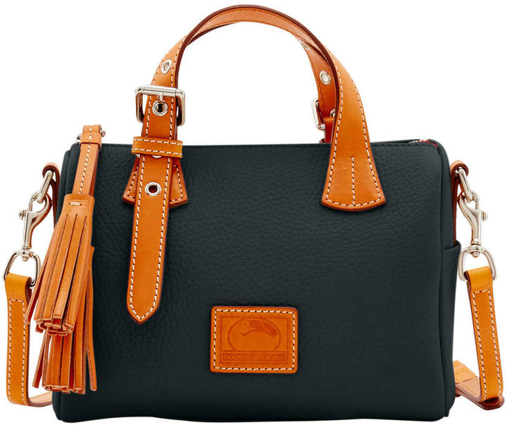 Dooney & Bourke Patterson Leather Small Kendra Satchel - BLACK - STYLE