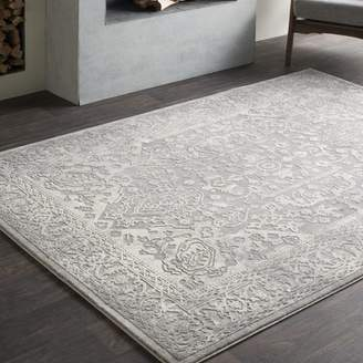Charlton Home Thissell Vintage Persian Medallion Gray Area Rug