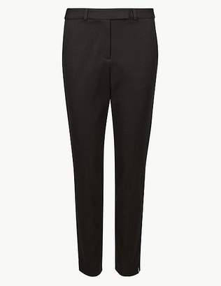 Marks and Spencer Cotton Blend 4 Way Stretch Ankle Grazer Trousers