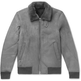 Officine Generale Shearling Bomber Jacket