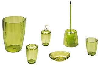 Carnation Home Fashions Palm Green, Ribbed 5 Piece Acrylic Bath Accessory Set