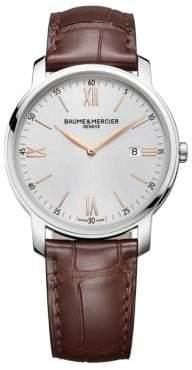 Baume & Mercier Classima 10144 Stainless Steel& Alligator Strap Watch