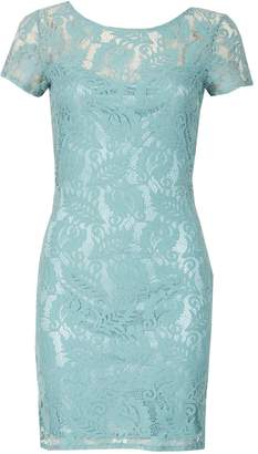 Dorothy Perkins Womens *Tenki Green Lace Shift Dress