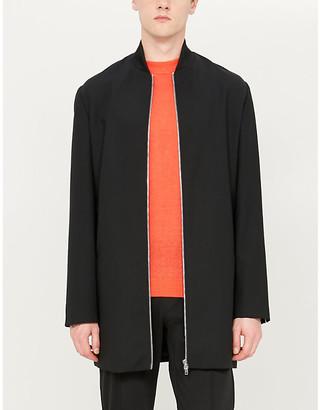 Short-sleeved linen jumper