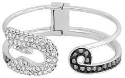 Karl Lagerfeld Safety Pin Swarovski Crystal Cuff