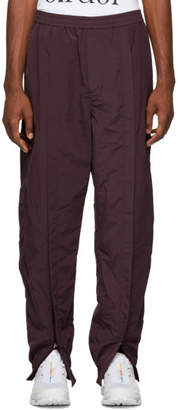 Name Burgundy Ankle Zip Trank Pants