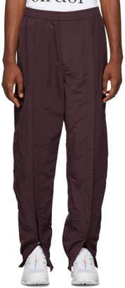 Name Burgundy Ankle Zip Trank Pants
