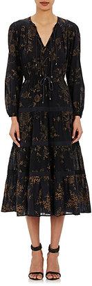 Ulla Johnson Women's Varanasi Midi-Dress-BLACK $425 thestylecure.com