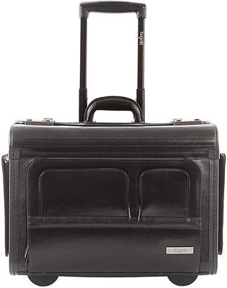 Bugatti 14-Inch Leather Business Case On Wheels