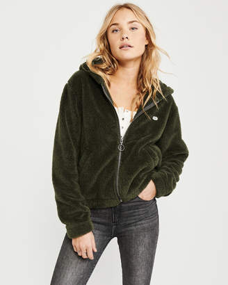Abercrombie & Fitch Sherpa Full-Zip Jacket