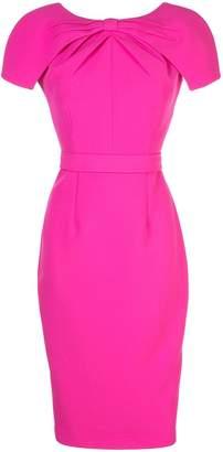 Safiyaa London fitted midi dress