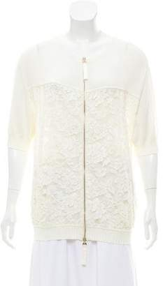 Blumarine Lightweight Lace-Accented Jacket