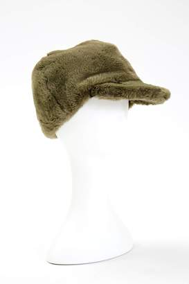 Maison Atia Baseball Cap - Faux Fur Khaki