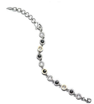 Coomi Opera Sterling Silver Bracelet with Black Spinel & Diamonds