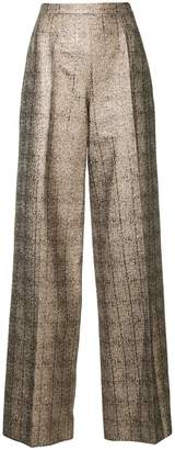 Ingie Paris flared metallic trousers