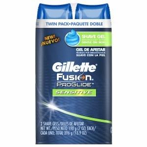 Gillette Fusion ProGlide Sensitive Men's Shaving Gel Twin Pack