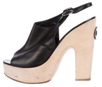 Chanel Slingback Platform CC Sandals
