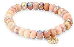 Sydney Evan Women's Sand Dollar Pink Opal Faceted Rondelle Charm Bracelet