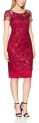 Gina Bacconi Women's Embroidered Sequin Cap Sleeve Dress