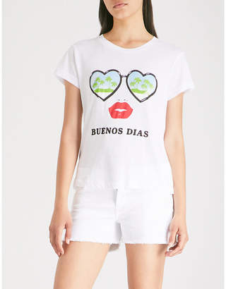 Wildfox Couture Buenos Dias printed cotton-jersey T-shirt