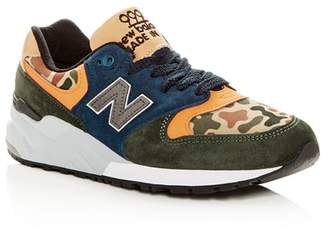 New Balance Men's 999 Mixed-Media Lace Up Sneakers