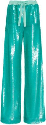 Prabal Gurung Sequined Wide-Leg Pants
