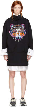 Kenzo Black Limited Editon Tiger Sweatshirt Dress